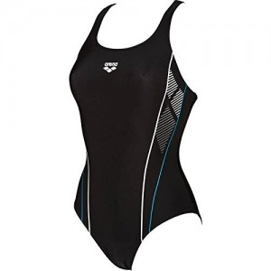 Arena W Skid One Piece - black,turquoise,whit