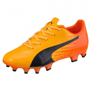 Puma evoSPEED 17.4 FG Jr - ultra yellow-peacoat-orange cl