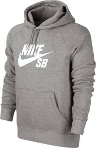 Nike Sb Icon Po Hoodie - dk grey heather/white