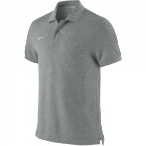 Nike Ts Core Polo - grey heather/white – Bild 1