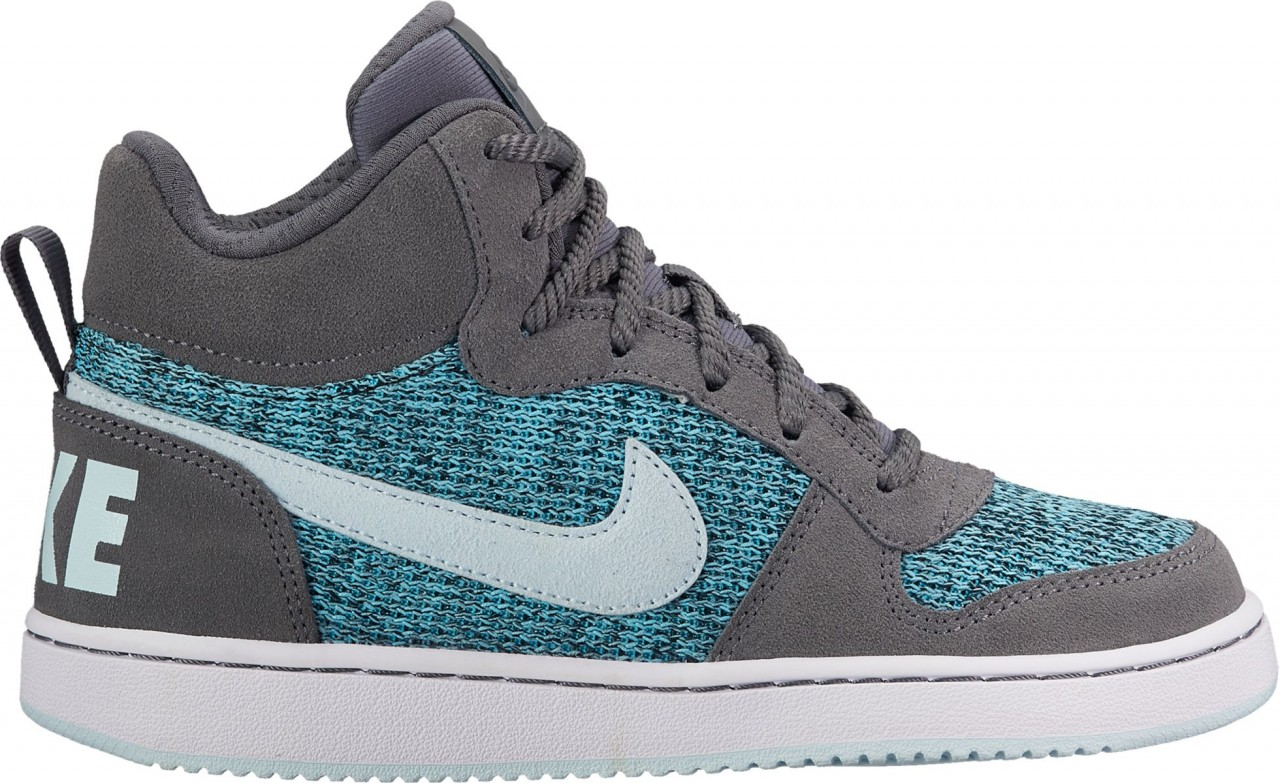 Nike Nike Court Borough Mid Se (Gs) - dark grey/glacier blue-polariz